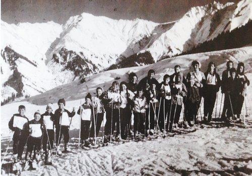 Cuorsa da skis,  ca.igl onn 1962 a Pitasch