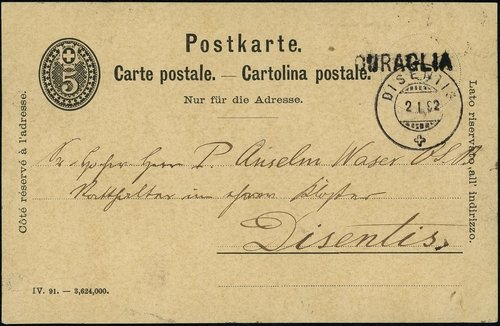 Carta postala 1892