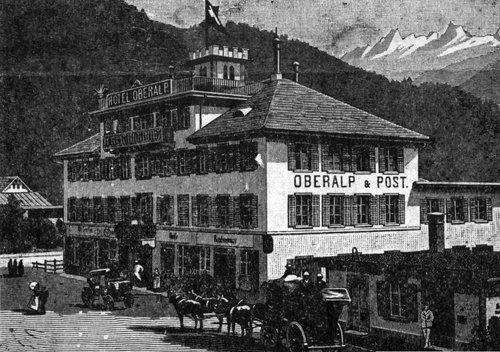 Hotel Oberalp & Post a Glion ca. 1900