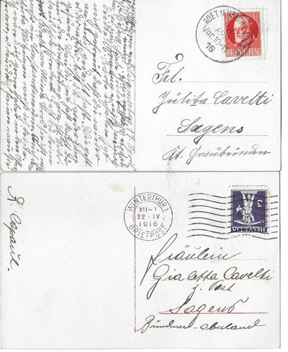 carta postala 1916