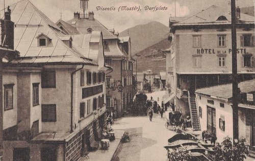 Mustér, via Sursilvana encunter Alpsu entuorn 1900