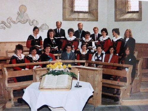 Cor da baselgia da Sta. Maria/Valchava 1992