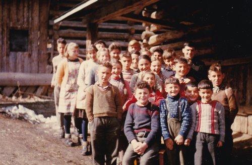 Scola cumplessiva digl onn da scola 1962 / 1963 da Pitasch