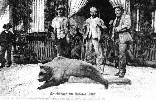 L'on 1897 es in Val d'Uina gnü schlupettà il penultim uors dal Grischun