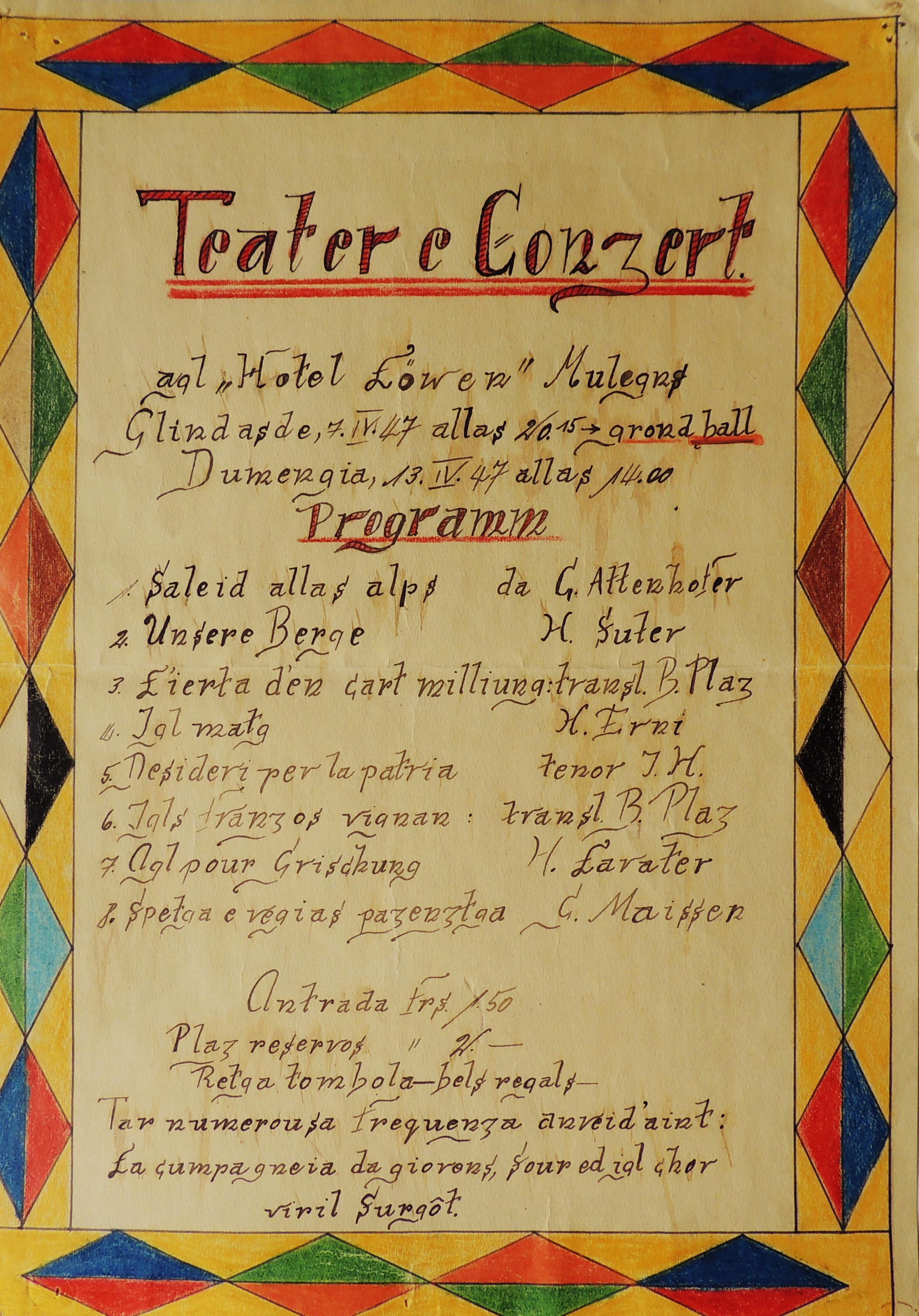 Mulegns - Chor viril Surgôt 1947