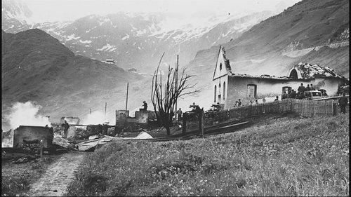 Incendi 1949 a Selva en Tujetsch