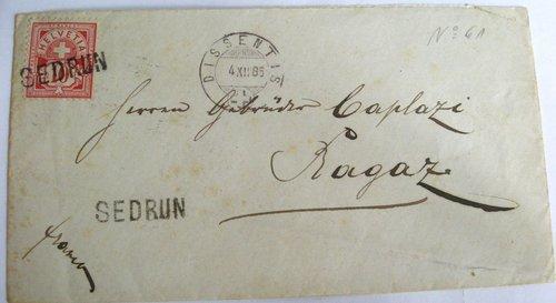 Ina brev als frars Caplazi 1885