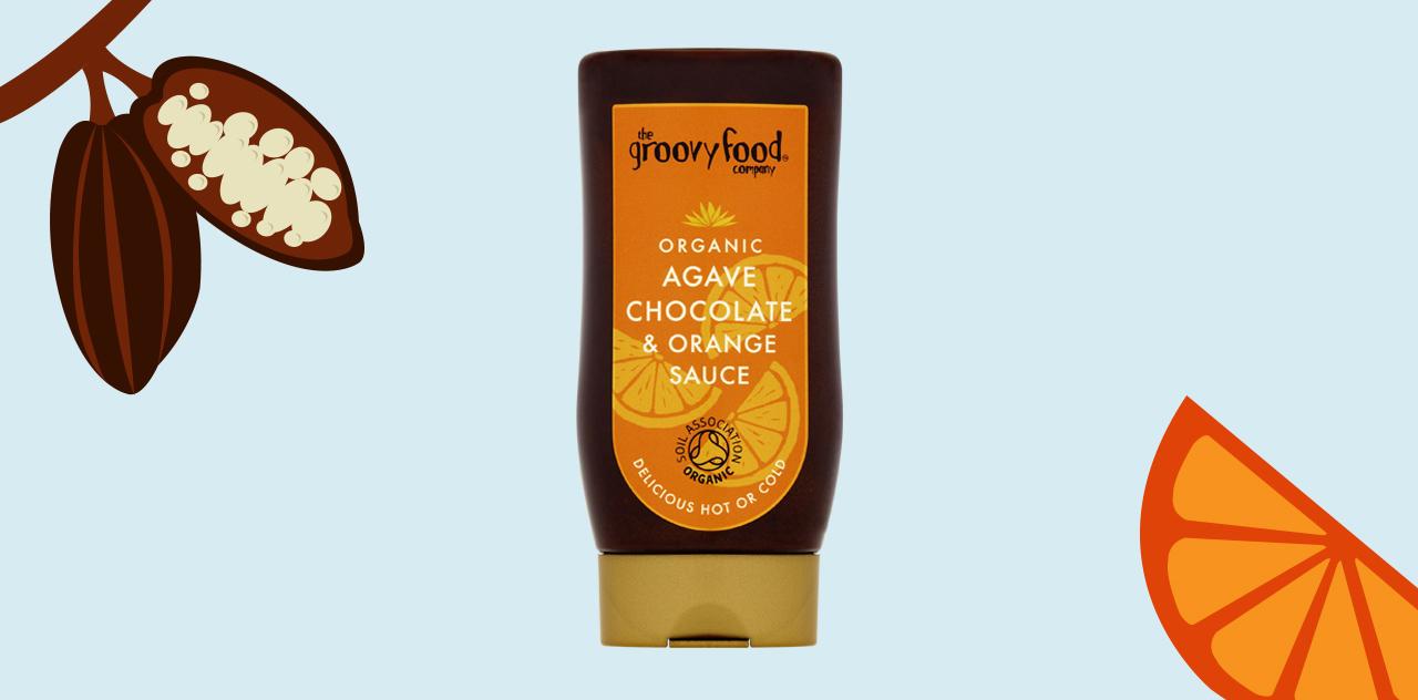 Agave chocolate and orange sauce