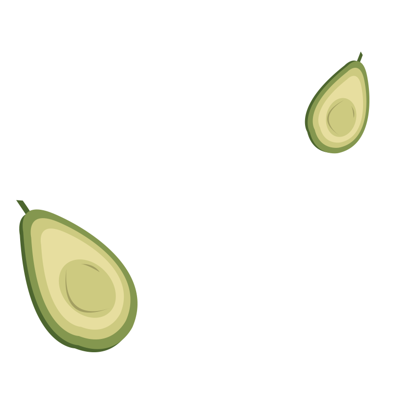 Avocado cooking spray illustration