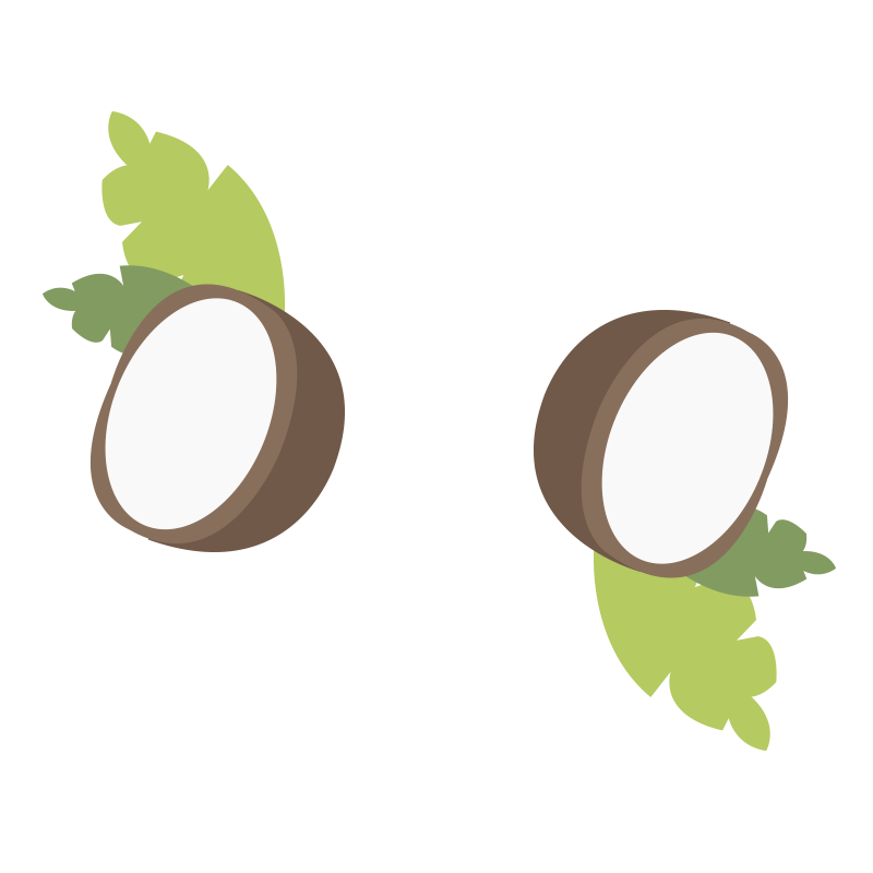 Creamed coconut oil large illustrations