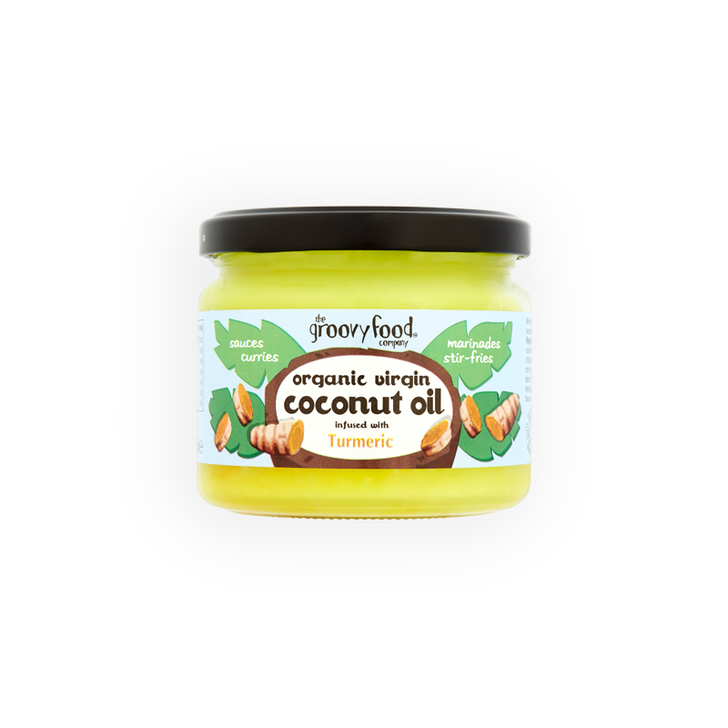 Coconut oil infused with tumeric