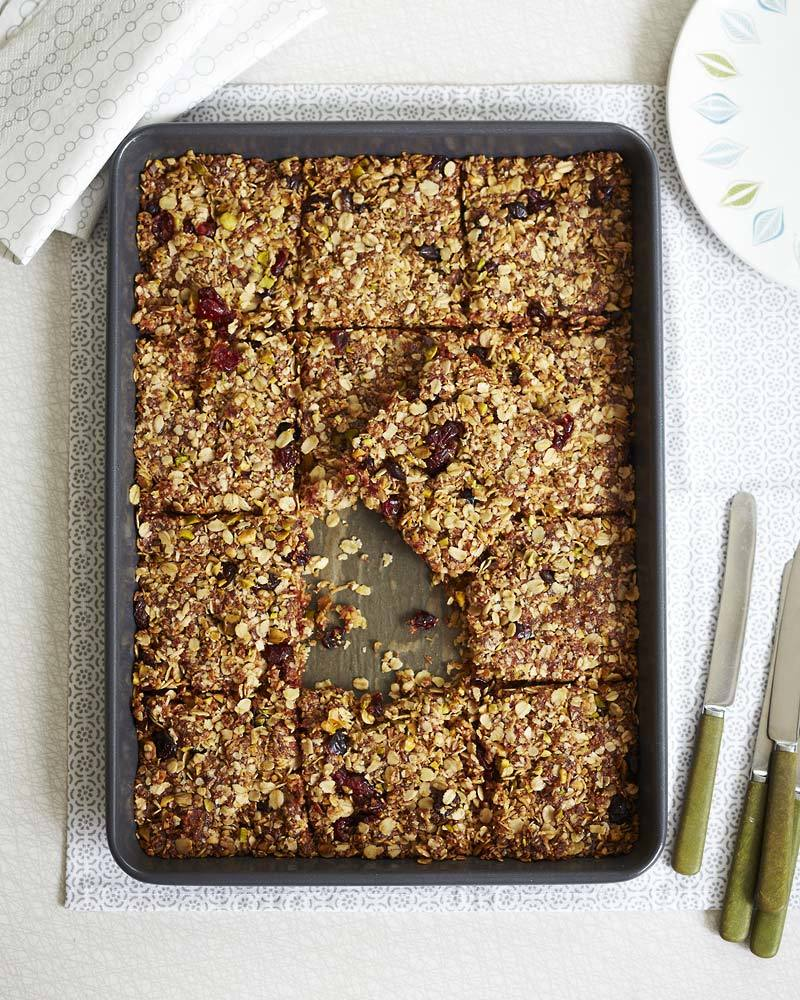 Coconut and cranberry flapjack