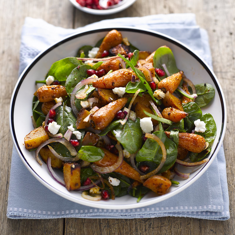 Carrot sweet potato salad
