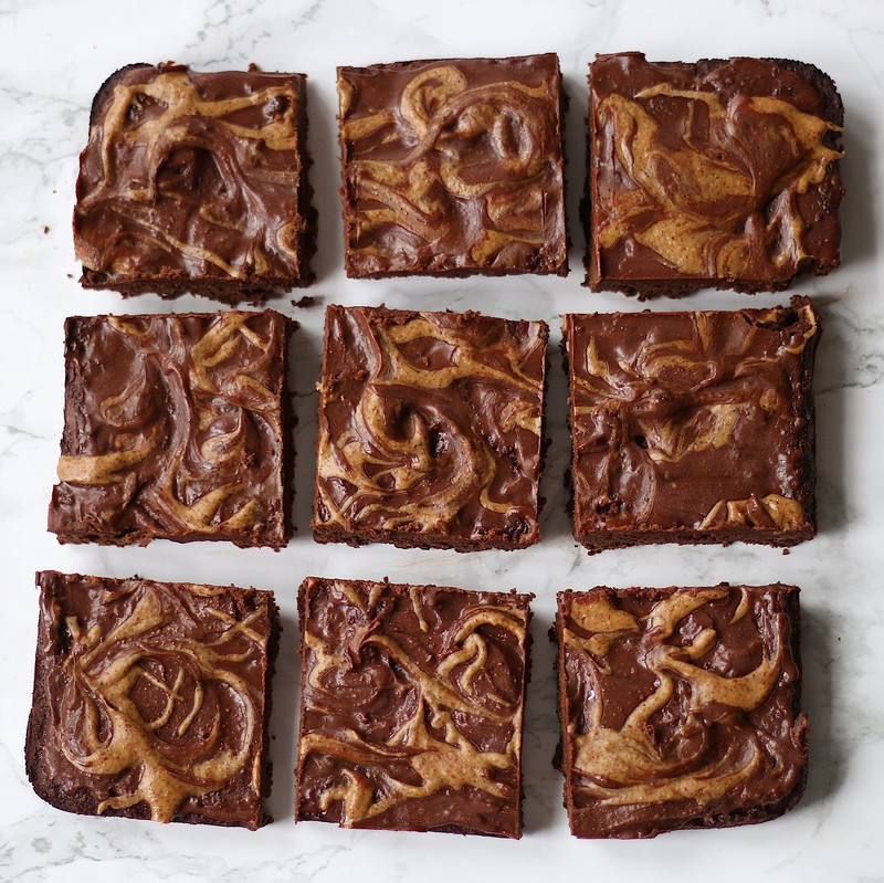 Theplantifulbrunette almond butter brownies