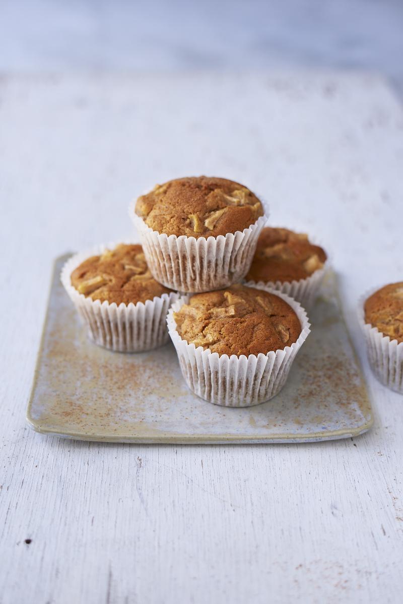 Vegan turmeric   pear muffins