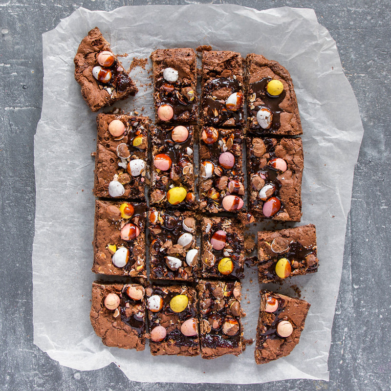Vco easter egg brownies