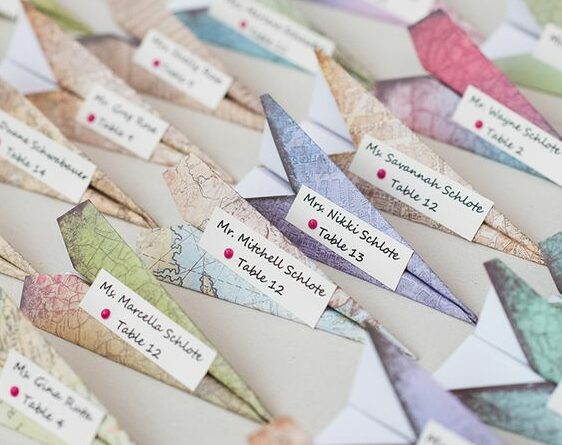 segnaposto matrimonio origami e1587035372280 - Segnaposto Matrimonio creativi fai-da-te
