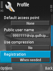 GULFISP Nokia pack 1 SIP setting configuration (Step11)