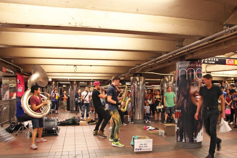 Muzikanten in de metro