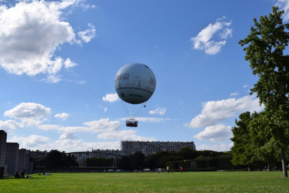 Luchtballonvaart in Parc André Citroën