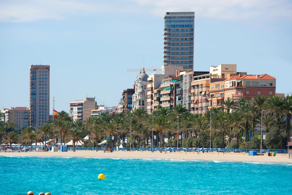 Stranden van Alicante