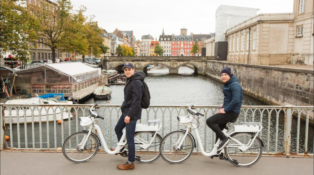 Door de stad fietsen