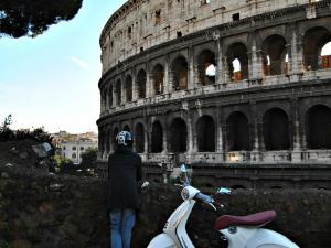 Vespa tour door de stad