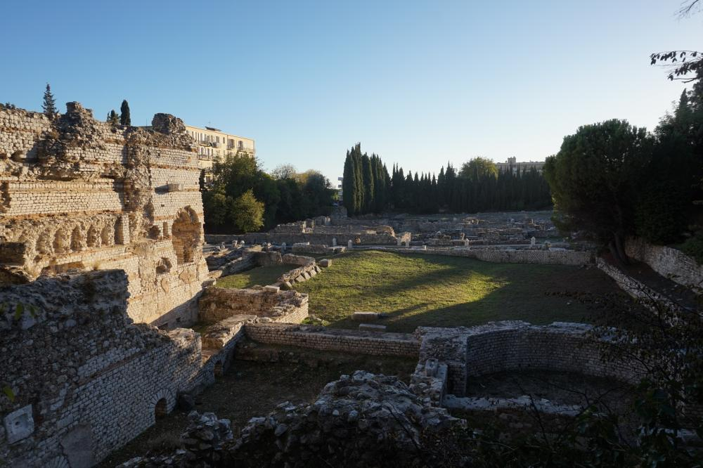Ruïnes van oude Romeinse badhuizen