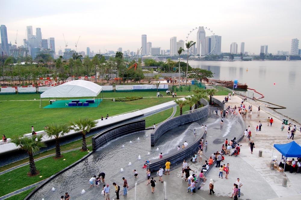 Picknicken bij Marina Barrage