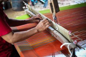 Traditioneel weven