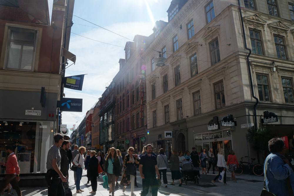Sergels torg en Drottninggatan