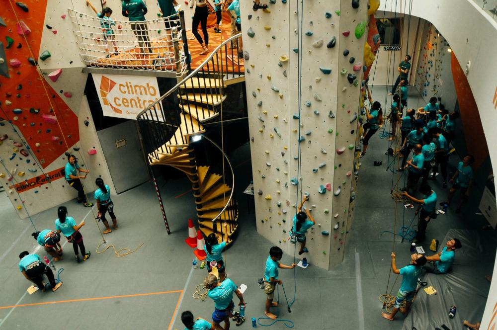 Climb Central in Kallang Wave Mall