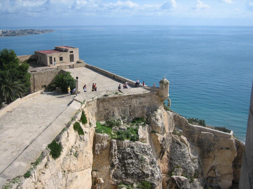 Wandeling over de kasteelmuren
