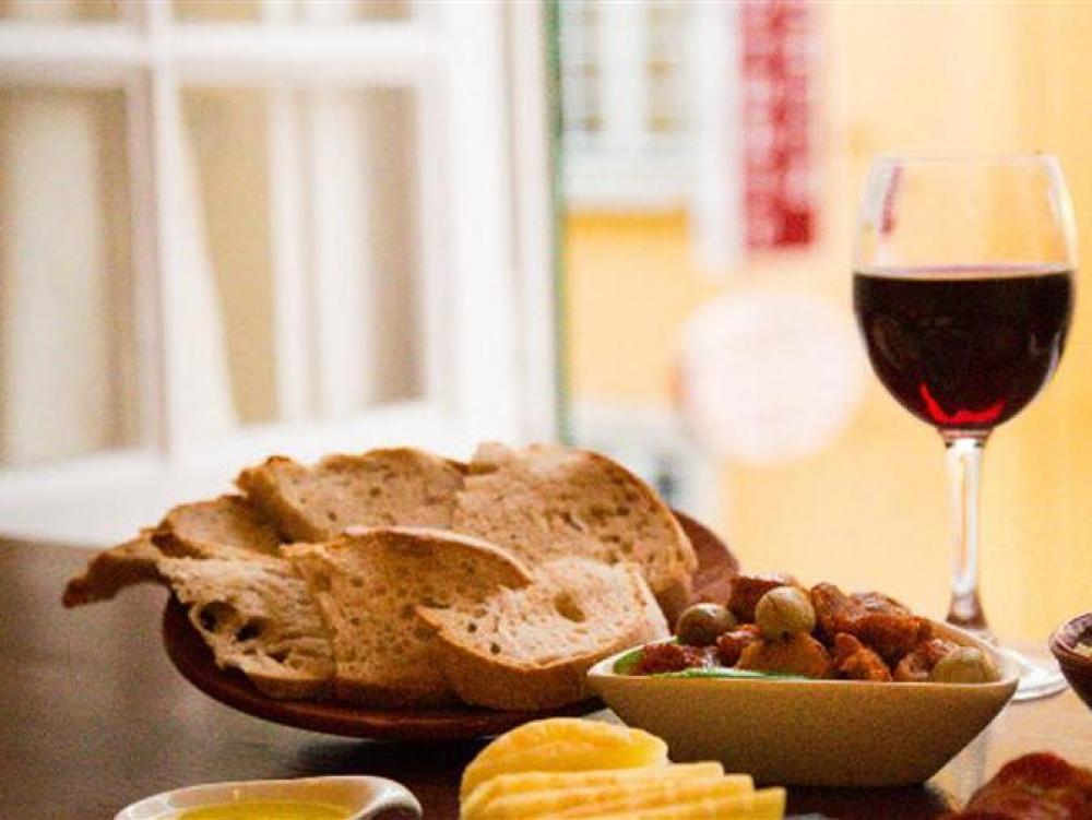 Eten en wijn wandeling