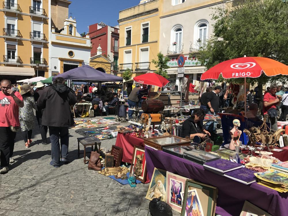 Vlooienmarkt op Calle Feria op donderdag