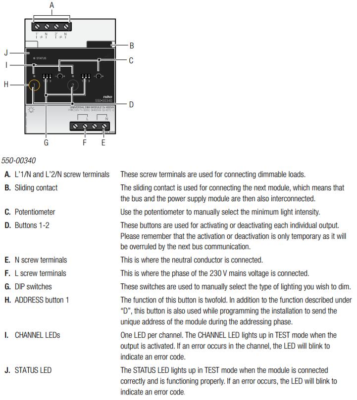 universal dimming module rh guide niko eu Operators Manual User Manual Template