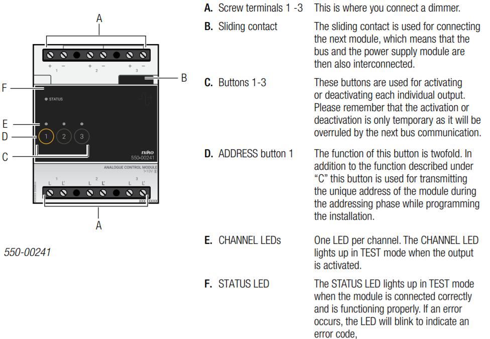 analogue control module 1 10 v rh guide niko eu User Manual PDF Manuals in PDF