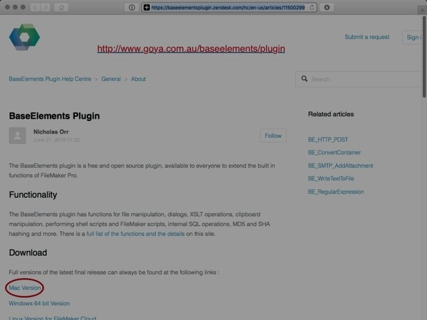 Install the Base Elements Plugin for Filemaker