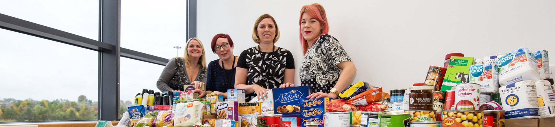 Staff collecting for local food banks