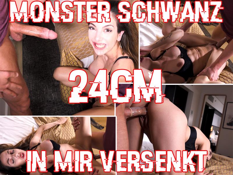 Monster Schwanz 24 cm in mir versenkt