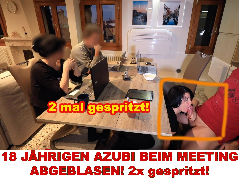 18 JÄHRIGEN AZUBI BEIM MEETING ABGEBLASEN! 2x gespritzt!