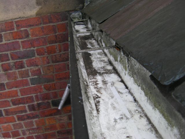 gutter cleared