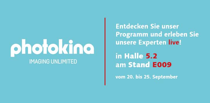 Besuchen Sie uns auf der photokina in Köln!