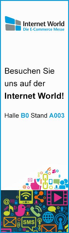 Beuchen Sie uns auf der Internet World 2015 - Halle B0 Stand A003