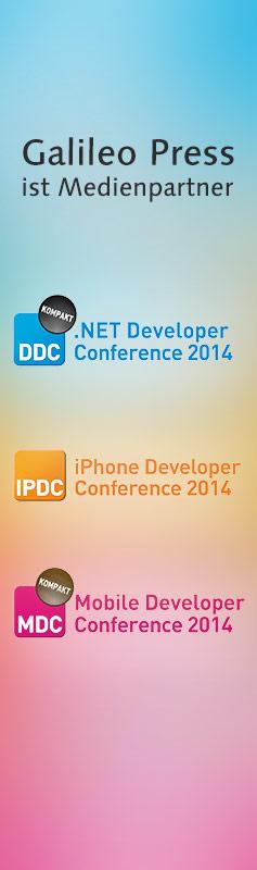 Besuchen Sie die .NET Developer, iPhone Developer oder Mobile Developer Conference