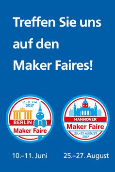 Der Rheinwerk Verlag auf den Maker Faires 2017