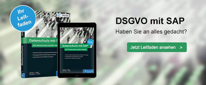 DSGVO-konform mit SAP