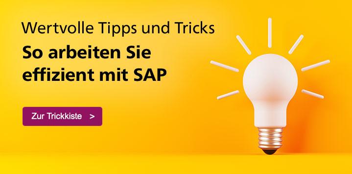 Wertvolle Tipps und Tricks für die Arbeit mit SAP. Jetzt informieren