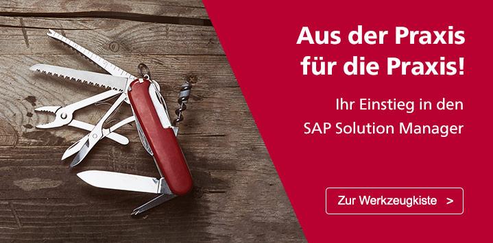 Ihr Einstieg in den SAP Solution Manager. Zur Werkzeugkiste >