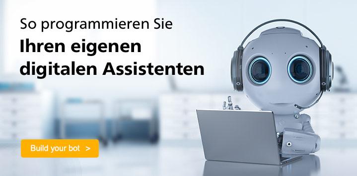 So programmieren Sie Ihren eigenen digitalen Assistenten. Jetzt SAP Covnersational AI entdecken >